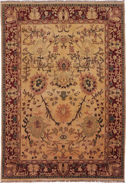 """Hand Made India Agra 9' x 12'8"""" Green DK"""