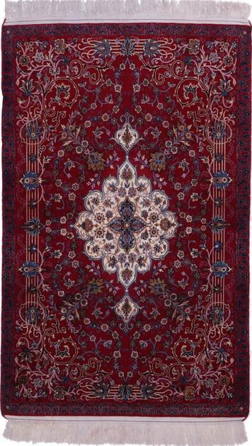 "Hand Knotted Iran Isfahan 3'5"" x 5'6"" Purple LT"