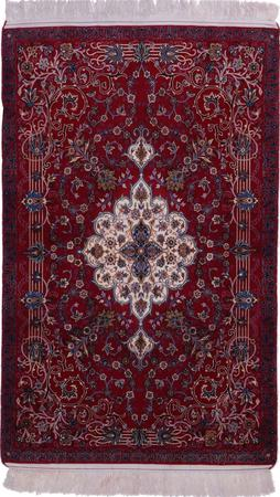"""Hand Knotted Iran Isfahan 3'5"""" x 5'6"""" Purple LT"""