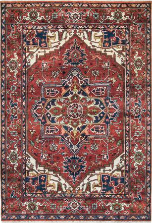 "Hand Made India Serapi 6' x 8'10"" Orange DK"