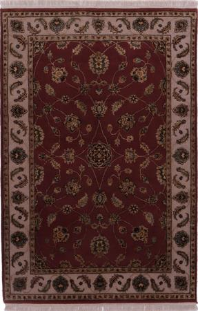 "Hand Knotted India Mahal 4'2"" x 6'2"" Orange DK"
