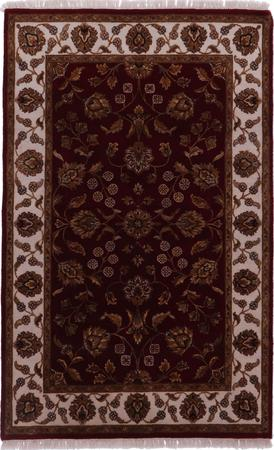 """Hand Knotted India Mahal 4'2"""" x 6' Purple LT"""