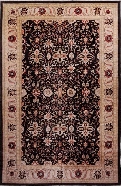 "Hand Made Pakistan Peshawar 12' x 18'4"" Brown DK"