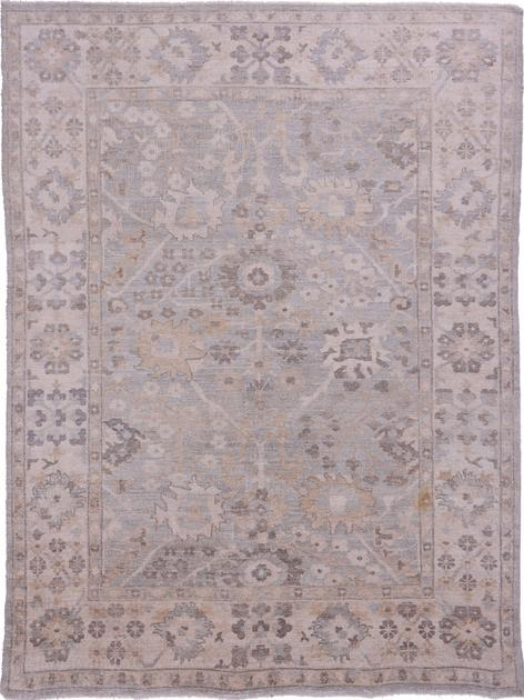 """Hand Made India Oushak 8'6"""" x 11'6"""" Silver"""