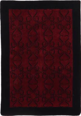 Hand Made India Contemporary 4' x 6' Red DK