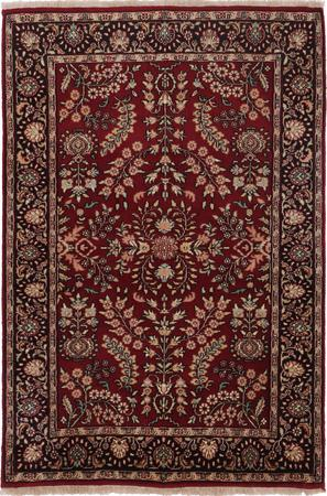Hand Made India Nepal 4' x 6' Brown LT