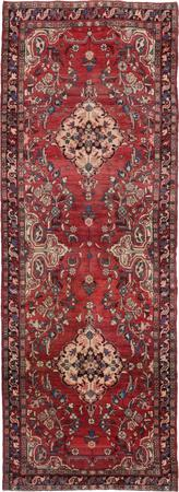 "Hand Knotted Iran Bakhtiari 3'11"" x 10'9"" Orange"
