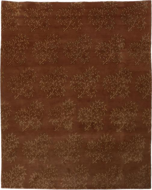"Hand Knotted Nepal Contemporary 8' x 9'10"" Brown DK"
