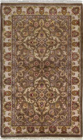 """Hand Made India Oushak 3'3"""" x 5'3"""" Brown Rug"""