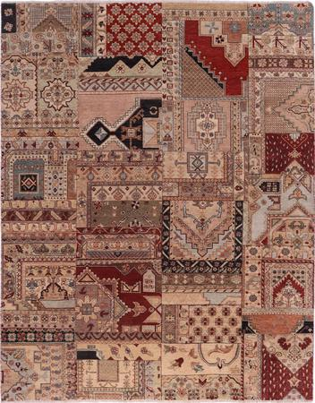 Hand Made India Patchwork 8' x 10'3