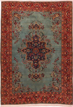 """Hand Knotted Iran Kashan 4'8"""" x 6'7"""" Gray"""
