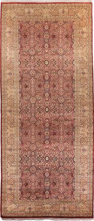"""Hand Made Pakistan Floral 6' x 14'3"""" Rust"""