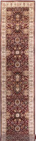 "Hand Made India Agra 2'7"" x 11'9"" Red Rug"