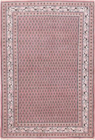 Hand Made India Sarab 4' x 6' Red Rug