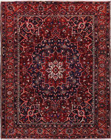 """Hand Knotted Iran Bakhtiari 10'6"""" x 12' Red"""