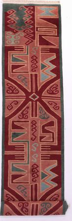 """Hand Made Nepal Contemporary 2'9"""" x 13'9"""" Brown Rug"""