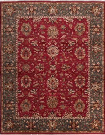 "Hand Made India Kashan 11'11"" x 14'11"" Red Rug"
