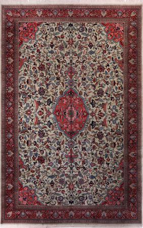 "Hand Made India Kashan 11'10"" x 18'3"" Ivory Rug"