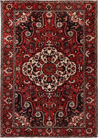 "Hand Knotted Iran Bakhtiari 6'11"" x 10' Red Rug"