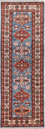"Hand Made Afghanistan Kashan 2' x 5'10"" Blue Rug"