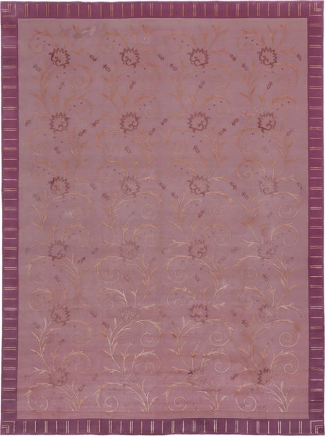 Hand Made India Floral 8'6''x11'6'' Purple LT