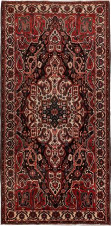 "Hand Knotted Iran Bakhtiari 5'7"" x 10'8"" Brown"