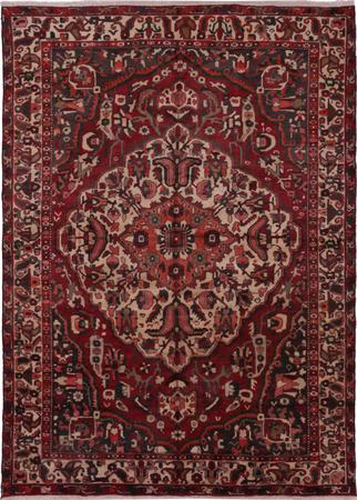 "Hand Knotted Iran Bakhtiari 6'11"" x 9'5"" Red Rug"