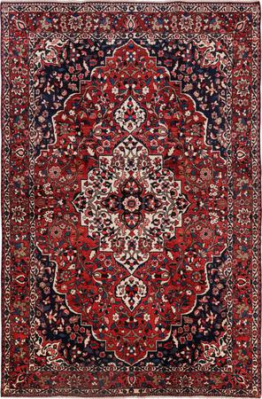 """Hand Knotted Iran Bakhtiari 6'10"""" x 10'4"""" Red"""