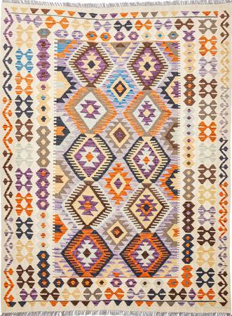 "Flat Weave Pakistan Kazak 5' x 6'6"" Multi Rug"