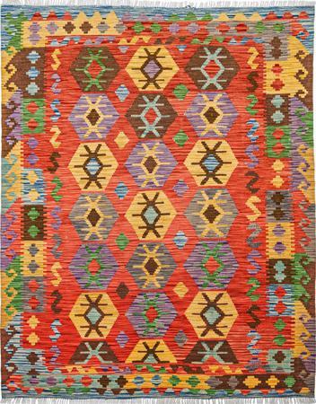 "Flat Weave Pakistan Kazak 5' x 6'6""  Rug"