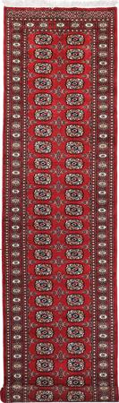 "Hand Made Pakistan Bokhara 2'6"" x 12'3"" Red Rug"