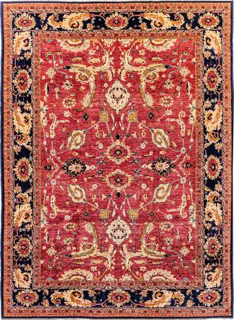 "Hand Made Afghanistan Serapi 9'11"" x 13'11"" Red Rug"