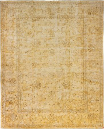"""Hand Knotted Pakistan Oushak 11'3"""" x 13'10"""" Yellow Rug"""