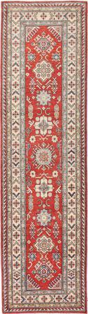 "Hand Made Afghanistan Kazak 2'8"" x 9'9"" Red Rug"