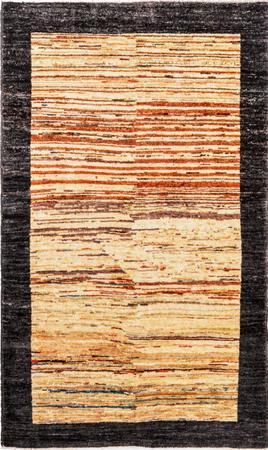 "Hand Made Afghanistan Gabbeh 3' x 4'9"" Multi Rug"