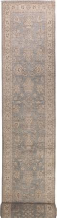 """Hand Made Afghanistan Oushak 2'7"""" x 19' Gray"""