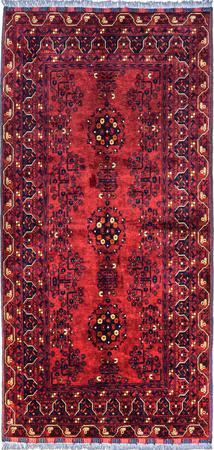 "Hand Made Afghanistan Bokhara 3'3"" x 6'10"" Red DK Rug"