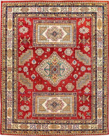 "Hand Made Afghanistan Kazak 7'11"" x 10' Red"