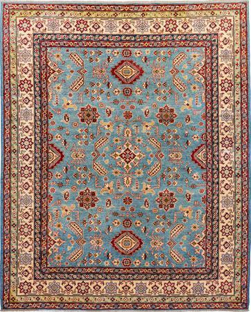 Hand Made Afghanistan Kazak 8' x 10' Blue