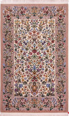 """Hand Knotted Iran Isfahan 4'10"""" x 7'7"""" Tan Rug"""