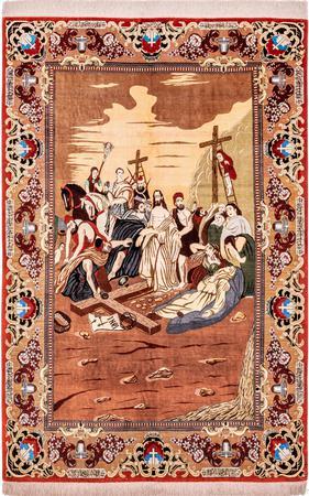 Hand Knotted Iran Qum 4'5