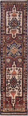 "Hand Made Iran Heriz 2' x 8'10"" Ivory Rug"