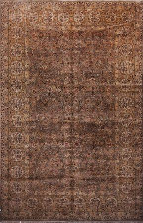 Hand Made India Agra 12' x 18' Brown Rug
