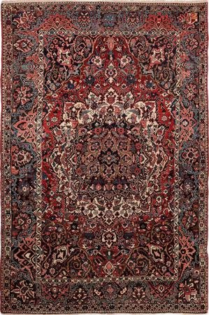 """Hand Knotted Iran Bakhtiari 7' x 9'10"""" Red"""