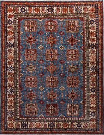 Hand Knotted Pakistan Kazak 8' x 10' Blue
