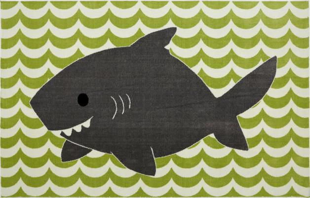 Mohawk Aurora (Kids) Smiling Shark Green