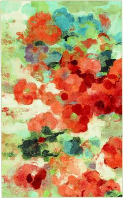 Mohawk Aurora Colorful Garden Red/Burgundy
