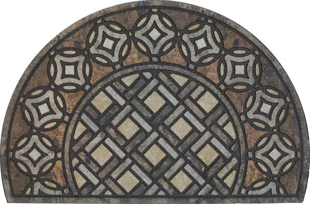 Mohawk Doorscapes Estate Mat Deco Tile Slice Brown