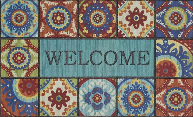 Mohawk Doorscapes Mat Welcome Exotic Tiles Multi