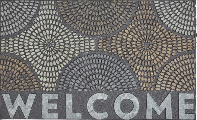 Mohawk Doorscapes Mat Welcome Radiant Color Burst Gray/Silver